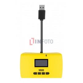 Czytnik kart pamięci Newell z funkcją No-PC backup i Recovery - żółty