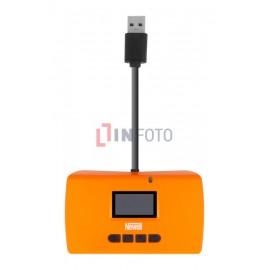 Czytnik kart pamięci Newell z funkcją No-PC backup i Recovery - pomarańczowy