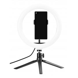 Lampa pierścieniowa LED Newell RL10 RGB + statyw