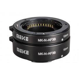 Pierścienie pośrednie Meike MK-N-AF3-B do Nikon 1 wersja econo