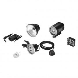 Quadralite Atlas 600 TTL 1-Light Head Kit   Lampa błyskowa 600Ws z dodatkową głowicą