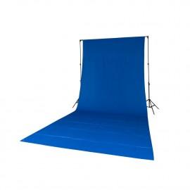 Quadralite tło tekstylne niebieskie 2,85x6m