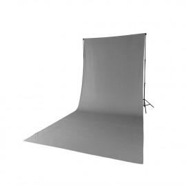 Quadralite tło tekstylne szare 2,85x6m