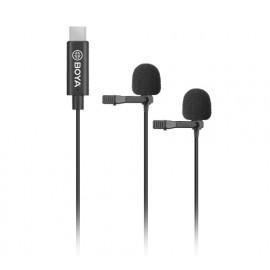 BOYA BY-M3D podwójny mikrofon krawatowy USB-C