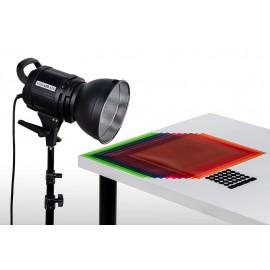Quadralite VideoLED 600 Zestaw ze statywem i filtrami żelowymi