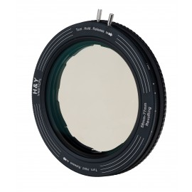 Zestaw uchwyt filtrowy regulowany H&Y Revoring 58-77 mm z filtrem szarym ND3-1000 i polaryzacyjn...