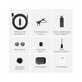 Synco S6P mikrofon krawatowy - DJI, USB-C, mini-jack 3,5 mm