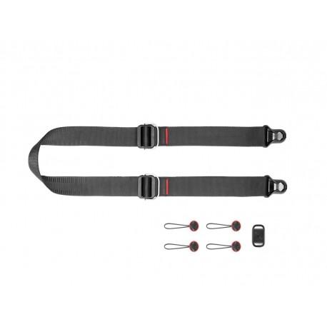 Pasek na szyję lub ramię SLIDE LITE BLACK v3 czarny do lekkich aparatów
