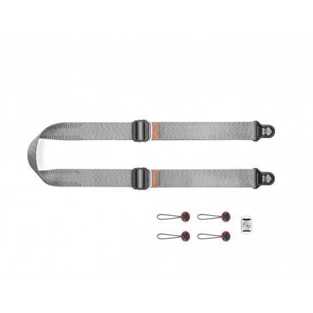 Peak Design Pasek na szyję lub ramię SLIDE LITE ASH v3 popielaty do lekkich aparatów