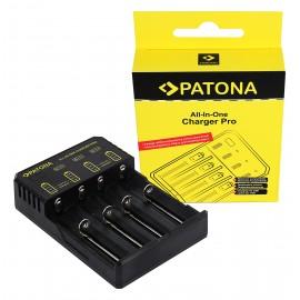 Ładowarka USB PATONA do ogniw okrągłych CR123A, 14500, 16340, 18650, 22650, 26650, AAA, AA