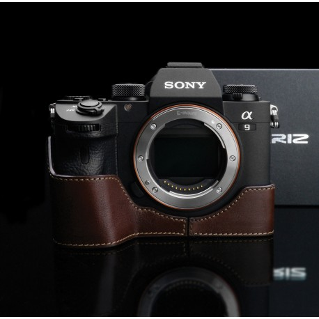 Half case GARIZ do Sony A9 Brązowy z naturalnej skóry