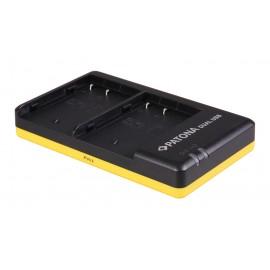 Dual USB ładowarka do Panasonic DMW-BLF19 z kabelkiem Micro USB (Micro USB Input) 8.4V