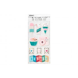 Naklejki Fujifilm Instax 3D Sticker Sheet - Summer