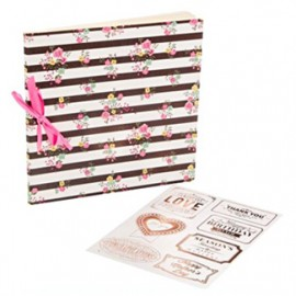 Album Fujifilm Instax Scrapbook Gift - FLORAL & STRIPES