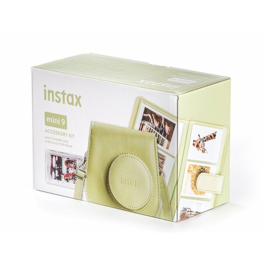 Zestaw akcesoriów Instax MINI 9 (Futerał, Album, Ramka) Lime Green Limonkowy