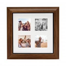 Ramka Fujifilm Instax Square 4 Mount Photo Frame Teak na 4 zdjęcia