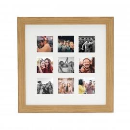 Ramka Fujifilm Instax Square 9 Mount Photo Frame Oak na 9 zdjęć