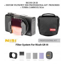 Aparat cyfrowy Ricoh GR III+ Zestaw filtrowy NiSi PROFESSIONAL kit Prosories + Torba