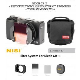 Aparat cyfrowy Ricoh GR III+ Zestaw filtrowy NiSi STARTER kit Prosories+ Torba