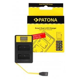 Podwójna ładowarka PATONA Smart Dual LCD Fuji NP-W126
