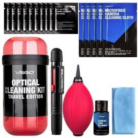 Zestaw do czyszczenia optyki VSGO DKL15R czerwony