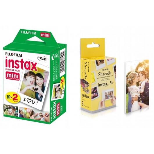 Wkład Fuji Instax Mini 20 zdjęć + Shacolla Mini