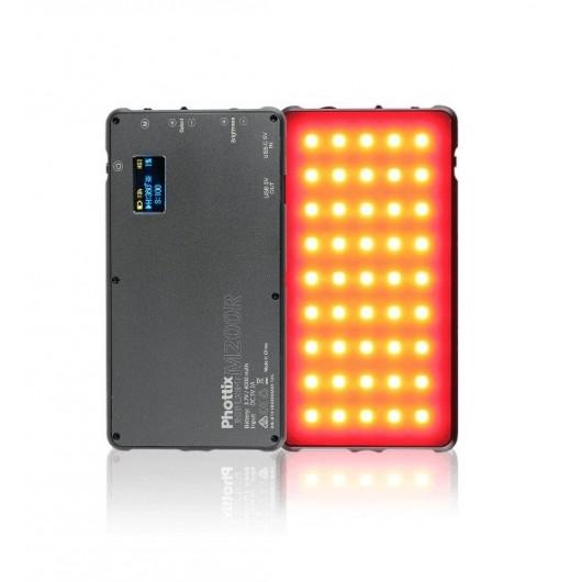 Lampa LED PHOTTIX M200R RGB z power-bankiem