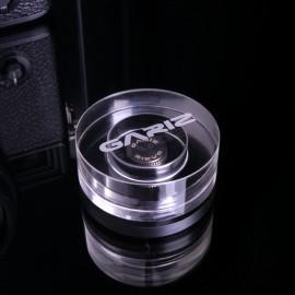 Aluminiowy soft button wkręcany w kolorze grafitowym GARIZ XA-SB4