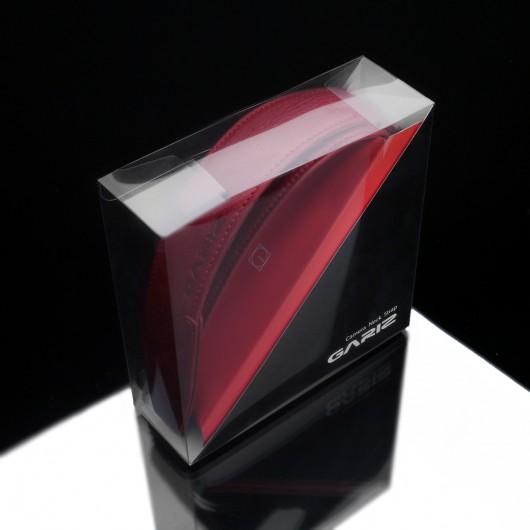 Pasek GARIZ AT-DSLAR czerwony alcantara szeroki