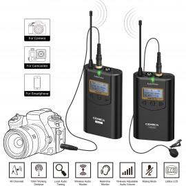 Comica CVM-WM100 (TX+RX) Zestaw bezprzewodowy z odbiornikiem i mikrofonem krawatowym