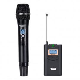 Comica CVM-WM100H (HTX+RX) Zestaw bezprzewodowy z obdiornikiem i mikrofonem doręcznym TRS jack 3,5mm