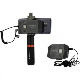 Comica CVM-WS50B Mikrofon bezprzewodowy krawatowy do smartfona z gripem TRRS jack 3,5mm