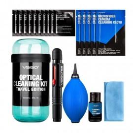 Zestaw do czyszczenia optyki VSGO DKL15B niebieski