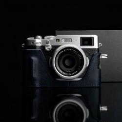 Half case GARIZ do Fuji X100F HG-X100FNV Granatowy