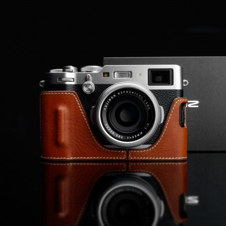 Half case GARIZ do Fuji X100F HG-X100FCM Jasny Brąz