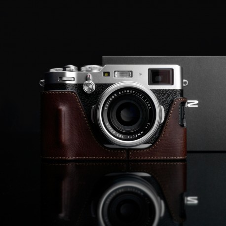 Half case GARIZ do Fuji X100F HG-X100FBR Brązowy