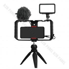 Synco Vlogger Kit 1 zestaw mikrofon M1S, lampa LED BI, uchwyt RIG, statyw