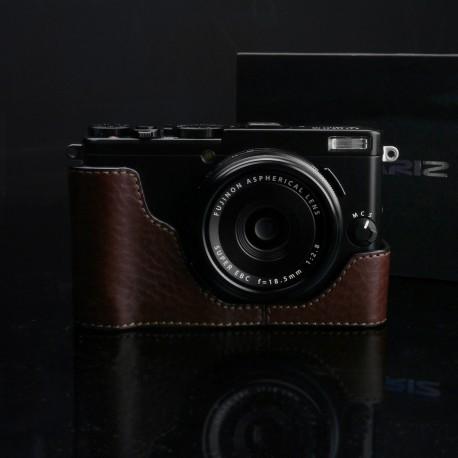 Half case GARIZ do Fuji X70 XS-CHX70BR Brązowy