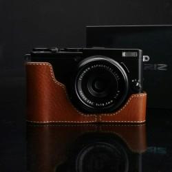 Half case GARIZ do Fuji X70 XS-CHX70CM Jasny Brąz