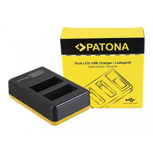 Ładowarka Dual Slim LCD USB NP-W126
