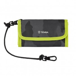 TENBA Tools Reload SD 9 Card Wallet — Black Camouflage/Lime