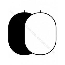 GlareOne Blenda Tło 2 w 1 czarno biała, 150 x 200cm