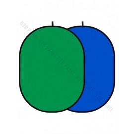 GlareOne Blenda Tło 2 w 1 zielono niebieska, 150 x 200cm
