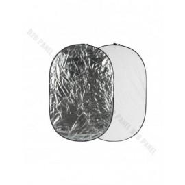 GlareOne Blenda 2w1 srebrno biała, 60x90cm