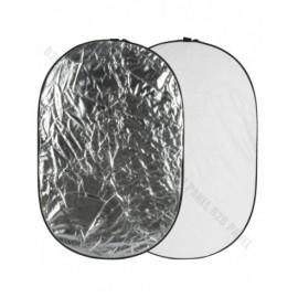 GlareOne Blenda 2w1 srebrno biała, 92x122cm