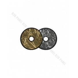 GlareOne Blenda 2w1 srebrno złota, 30cm, z otworem