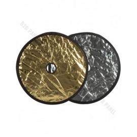 GlareOne Blenda 2w1 srebrno złota, 60cm, z otworem