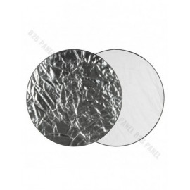 GlareOne Blenda 2w1 srebrno biała, 110cm