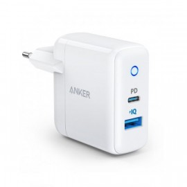 Ładowarka Anker PowerPort PD+2 18W USB-C + 15W USB-A Biała