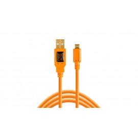 TETHER TOOLS TetherPro USB-A 2.0/ Micro-B 5-Pin 4.6m Orange kabel do tetheringu